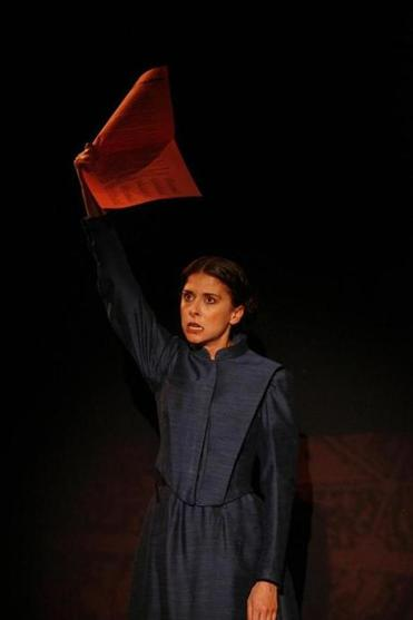 "Jeanine Serrales in the Civilians' ""Paris Commune,'' a musical play that will premiere at ArtsEmerson."